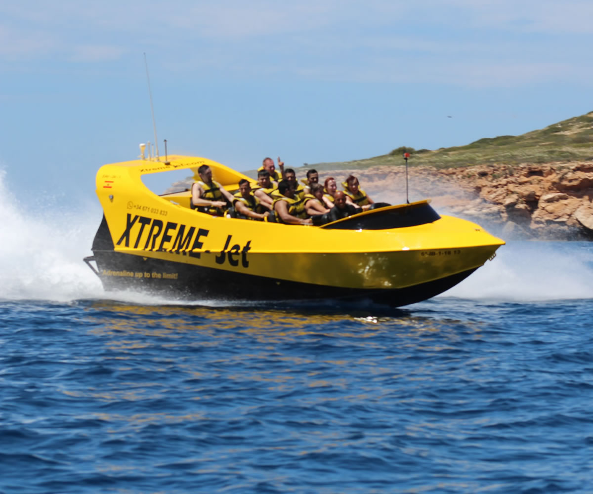 Jet Boat Xtreme - Ibiza Watersports  The one and only xtreme jet boat